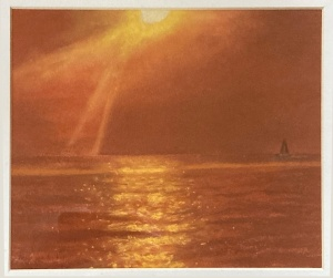 Sunset on Lake Michigan, Tanja van der Voo