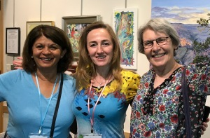 Members at Painting Exhibtion