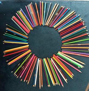 Color Pencil Wheel, Elaine Sneideman