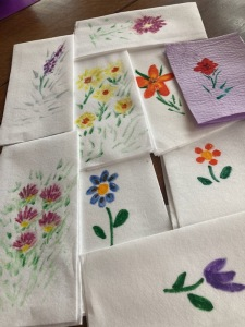 Painted Hand Towels, Jeanette Hescheles