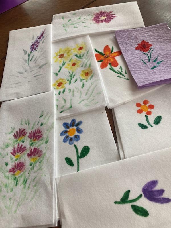 Painted Hand TowelsJeanette Hescheles